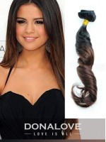 Two colors ombre indian remy clip in hair extensions OD011