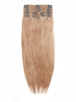 Light Ash Brown indian remy clip in hair extensions SD013