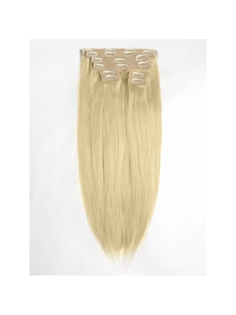 light ash blonde indian remy clip in hair extensions sd014. Black Bedroom Furniture Sets. Home Design Ideas