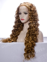 "24"" #10 mix #27s waist length curly Synthetic Lace Wig-SNY008"