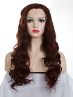 #35  mid back length Wavy Synthetic Lace Wig-SNY009