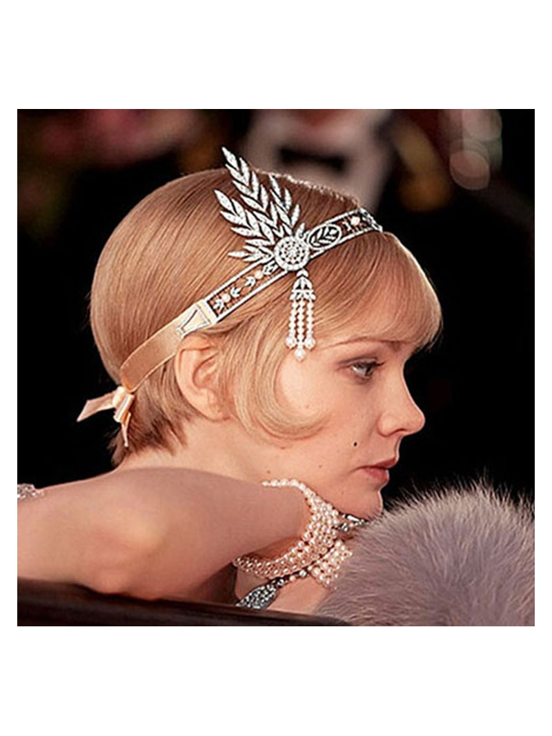great gatsby style hair accessories the great gatsby hair accessories pearl tassels 7346