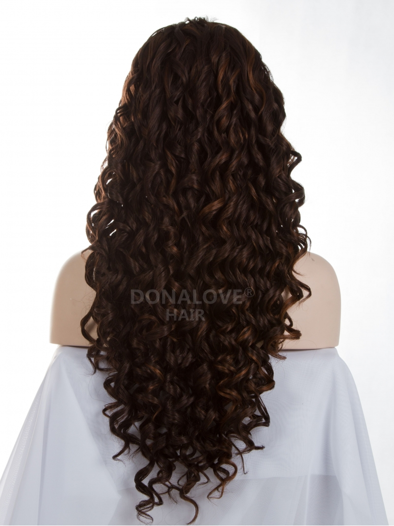 30 Mix 6 Waist Length Curly Synthetic Lace Wig Sny031