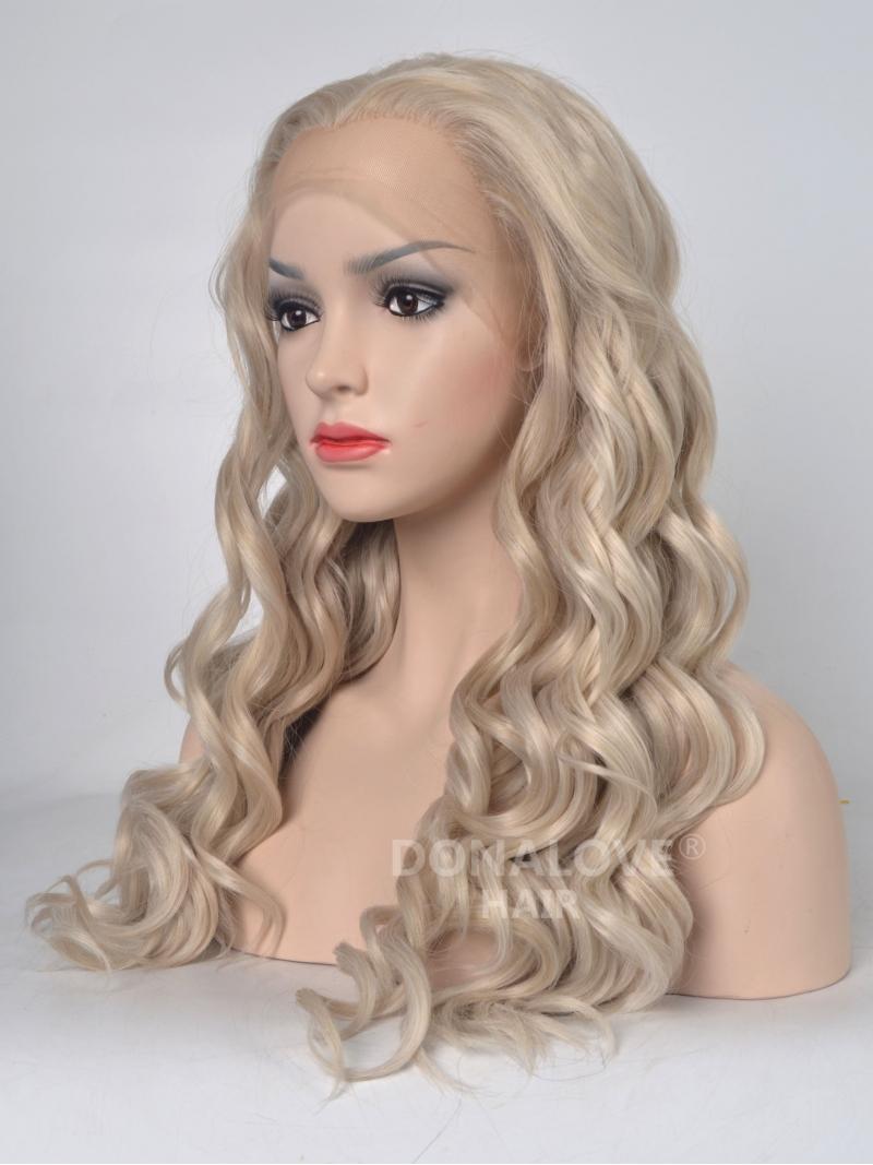 Blonde Wavy Wigs 60