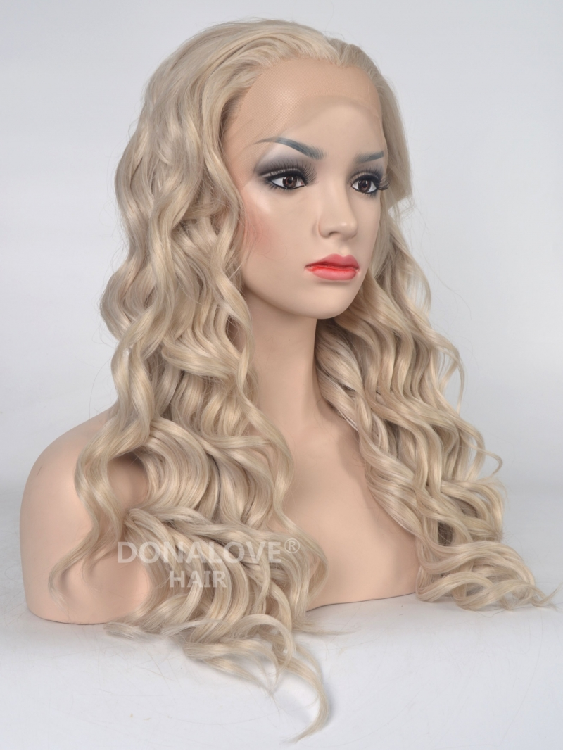 Blonde Long Wavy Synthetic Lace Front Wig Sny038