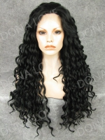 Mixed color Waist-length Wavy Synthetic Lace Wig-SNY054