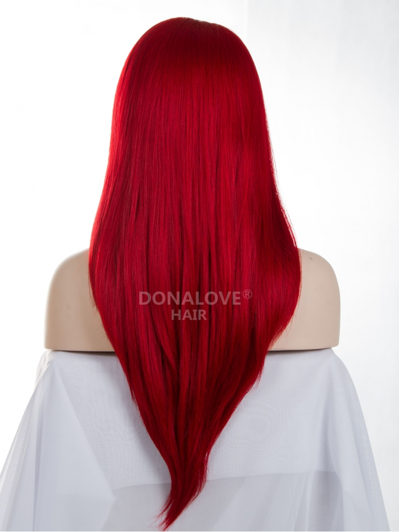 Hot Red Lace Wig 24