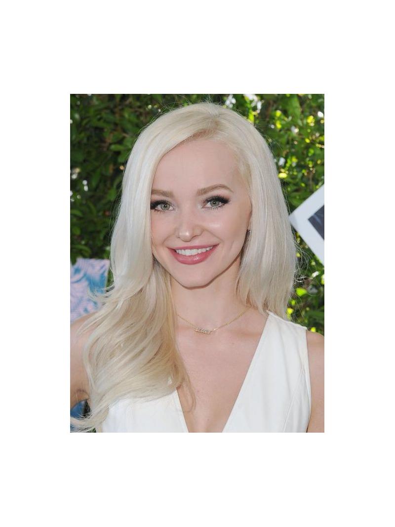 Platinum Blonde Long Lace Front Human Hair Wig Hh009