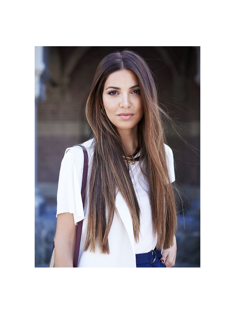 Wigs Human Hair Long 89