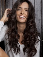 New Arrival Brown Wavy Lace Front Human Hair Wig HH021