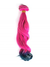 Pink to Green Ombre Mermaid Colorful Clip In Hair Extensions CD016