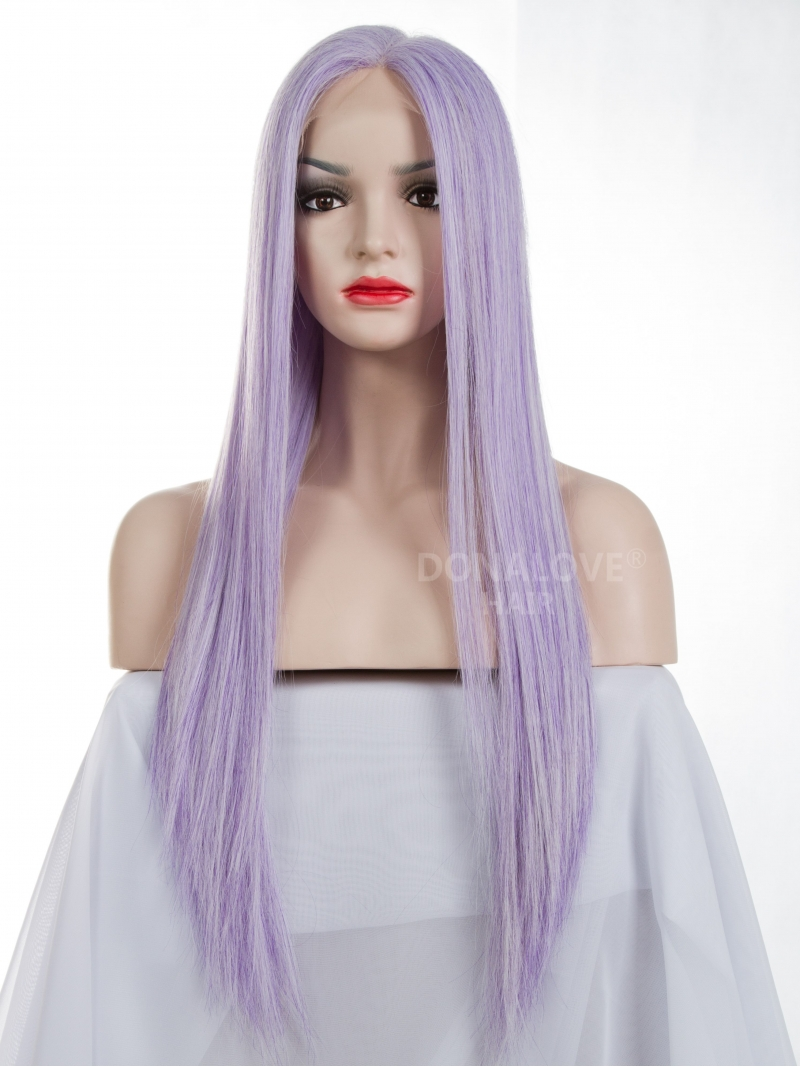 Purple And White Wig 109