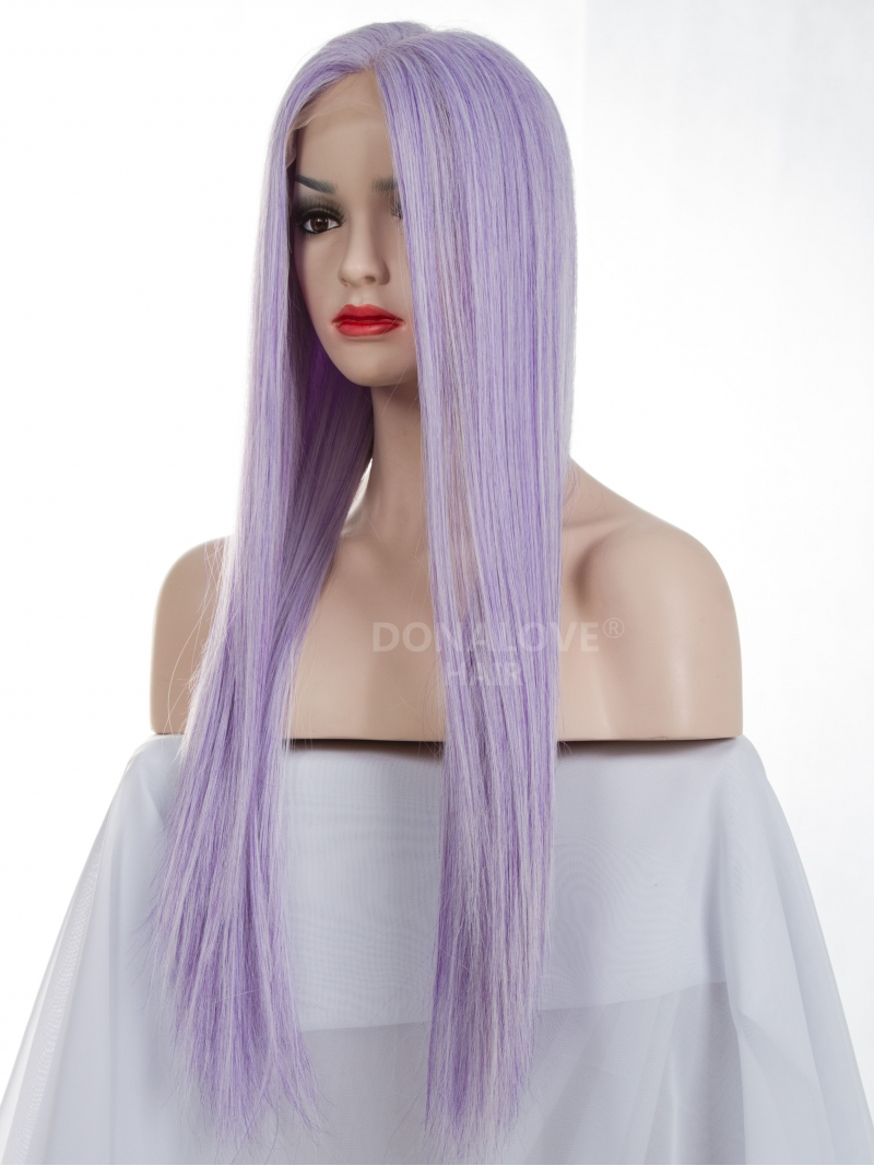 Purple And White Wig 14