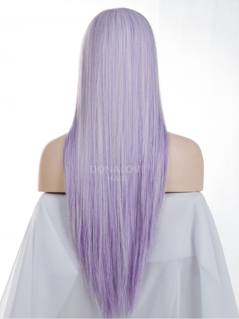 Purple And White Wig 73