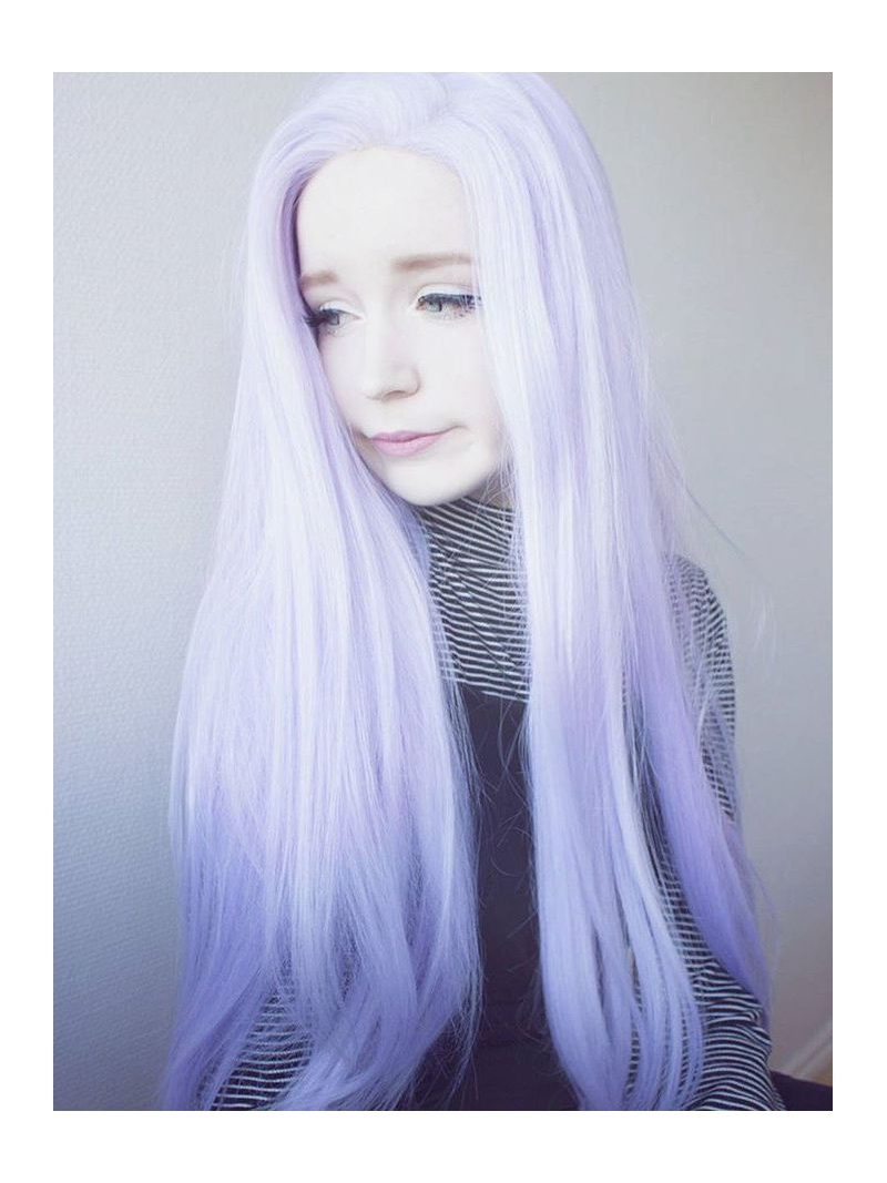 Purple And White Wig 23