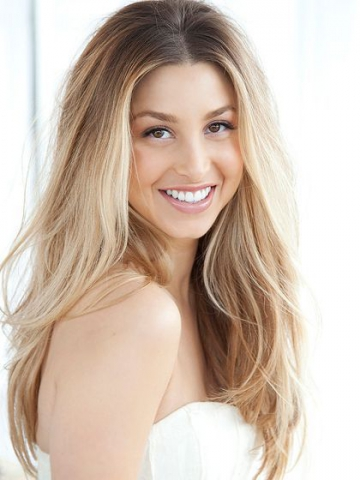 Light Blonde Ombre Long Wavy Lace Front Human Hair Wig HH031