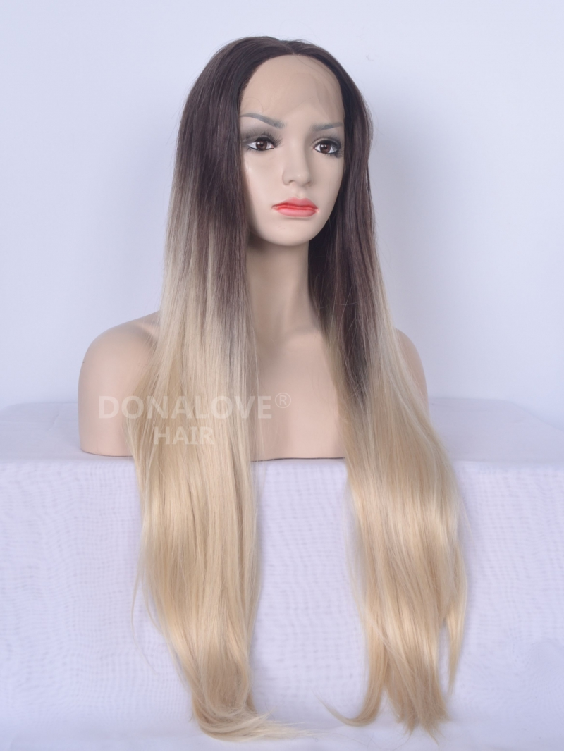 Brown Ombre Curly Full Lace Human hair Wig  Shantania001s