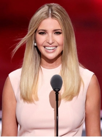 Ivanka Trump Inspired Blonde Ombre Mid-Length Lace Front Human Hair Wig HH045