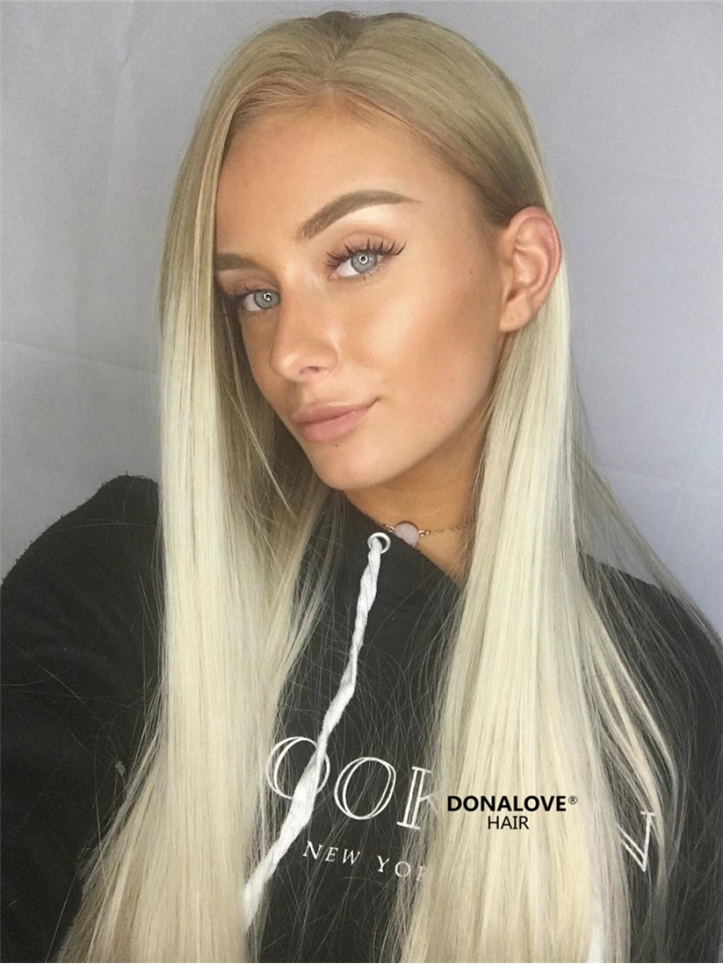 Brown Ombre Blonde Synthetic Lace Front Wig Sny108