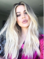 Celebrity Black to Blonde Long Human Hair Full Lace Wig FLW004