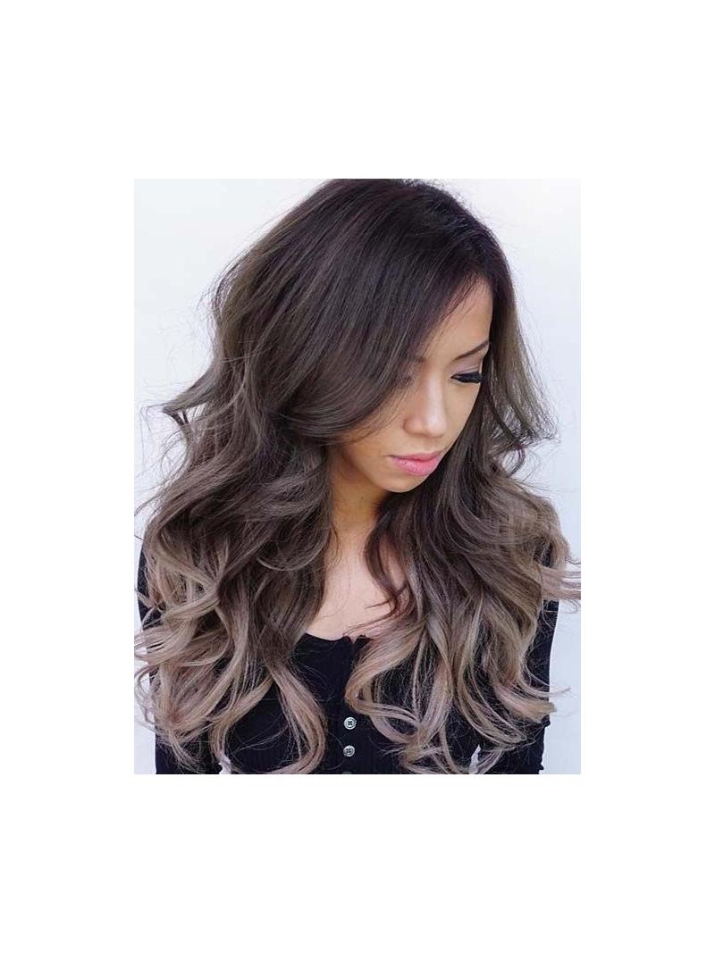 Dark Brown Ombre Ash Blonde Long Way Full Lace Human Hair