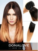 Two colors ombre indian remy clip in hair extensions --OD001