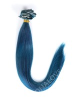 Blue-Shade Indian Remy hair Clip In Hair Extensions CD009