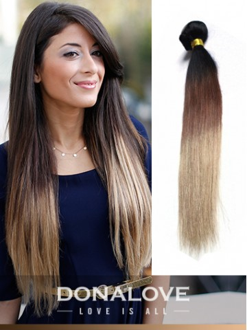 two colors ombre indian remy clip in hair extensions od005 clip