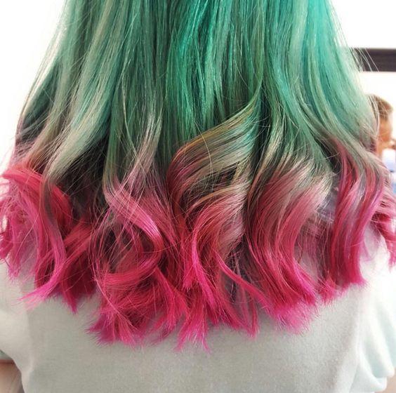 3 Color Bleed Hair
