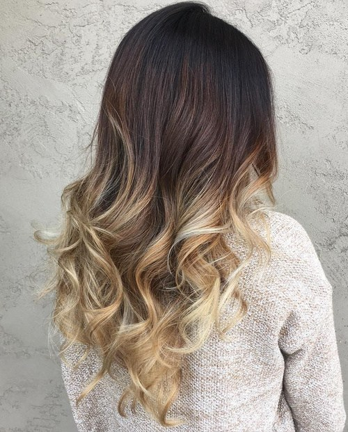 best ombre hair color ideas for blond brown red and black hair. Black Bedroom Furniture Sets. Home Design Ideas