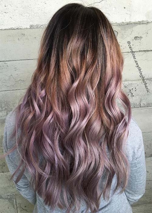 10. Chocolate Mauve with Lilac Lengths