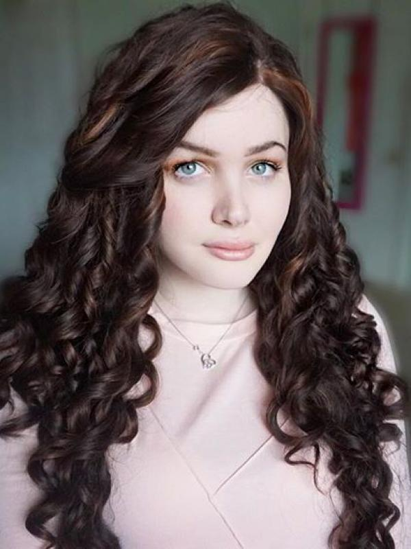 #30 mix #6 waist length curly Synthetic Lace Wig-SNY031