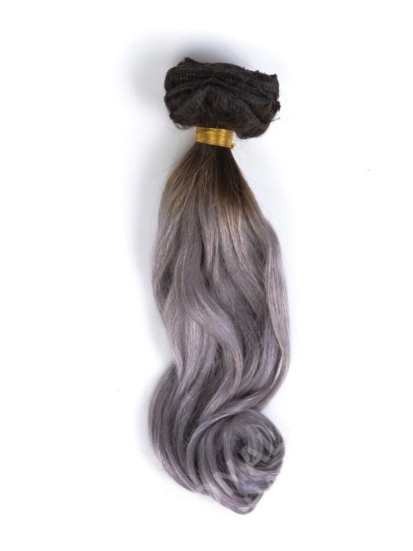 Black To Silver Ombre Clip In Hair Extensions Cd007 Clip In