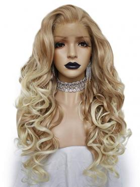 BLONDE OMBRE LONG WAVY SYNTHETIC LACE FRONT WIG SNY043