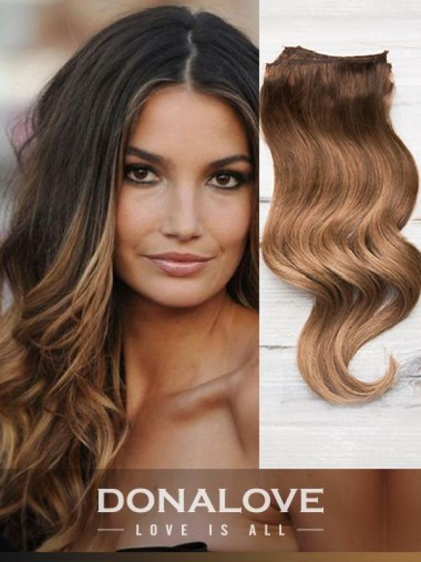 Two colors ombre indian remy clip in hair extensions OD002