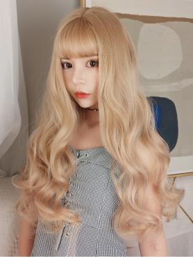 NEW BLONDE WAVY SYNTHETIC WEFTED CAP WIG LG057