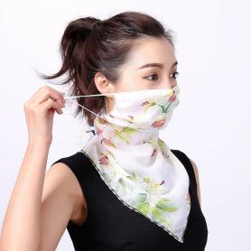 Women's Sun Protection Floral Seamless Bandanas for Dust, Outdoors, Sport DB001