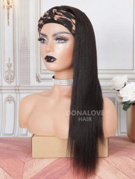 HEAD BAND WIG-STRAIGHT LAYERS HUMAN HAIR MACHINE MADE WIGS DHB001