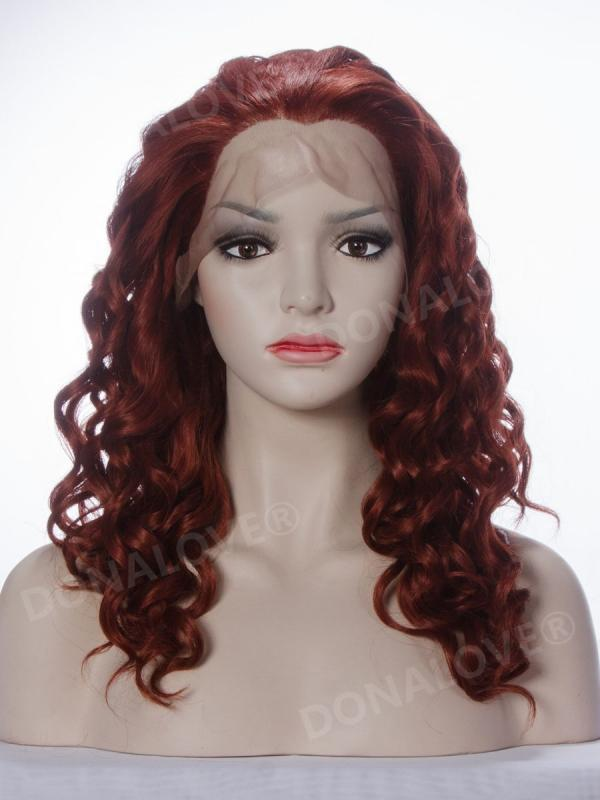 #35 mix #130 bra strap length Curly Synthetic Lace Wig-SNY006