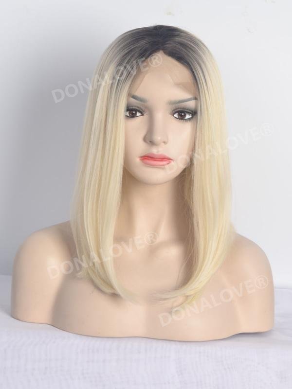 Black Ombre Blonde Bob Synthetic Lace Front Wig SNY109