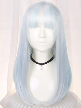 PASTEL MIXED COLOR MEDIUM LENGTH STRAIGHT SYNTHETIC WEFTED CAP WIG LG172