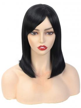 NEW BLACK STRAIGHT SYNTHETIC WEFTED CAP WIG WW055