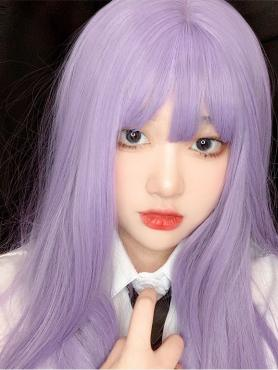 LILAC MEDIUM LENGTH SYNTHETIC WEFTED CAP WIG LG158