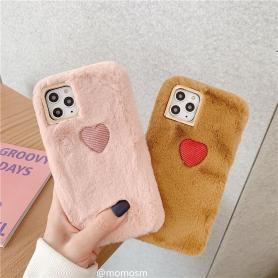 FURRY HEART SHOCKPROOF PROTECTIVE DESIGNER IPHONE CASE PC035
