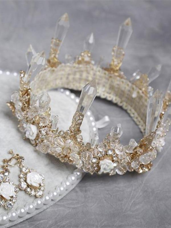 Quartz Crystal Crown A016