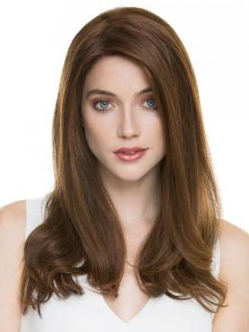 BROWN STRAIGHT HUMAN HAIR LACE FRONT WIG HH072