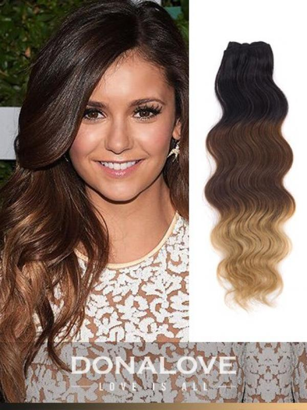 Two Colors Ombre Indian Remy Clip In Hair Extensions Od009 Clip In