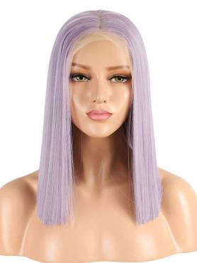 LILAC SHOULDER LENGTH BOB SYNTHETIC LACE FRONT WIG SNY172