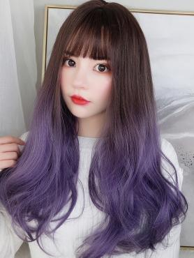 NEW GRADUAL BALLET PURPLE SYNTHETIC WEFTED CAP WIG LG060