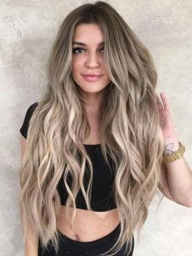 OMBRE LONG WAVY HUMAN HAIR FULL LACE WIG FLW045